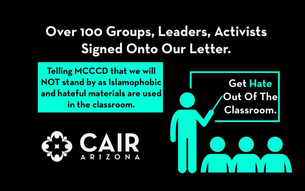 Over 100 Leaders, Academics and Activists Sign Letter Telling MCCCD:  Get Hate Out of the Classroom